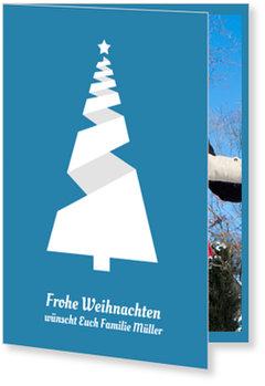 Aktuelle Weihnachtskarten, Papierbaum