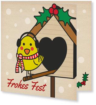 Aktuelle Weihnachtskarten, Piepsie