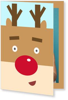 Aktuelle Weihnachtskarten, Rentier Selfie