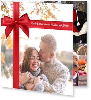 Aktuelle Weihnachtskarten, Schleife
