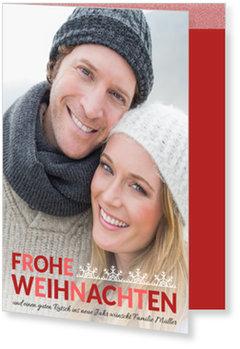 Aktuelle Weihnachtskarten, Schneeflockenzierde
