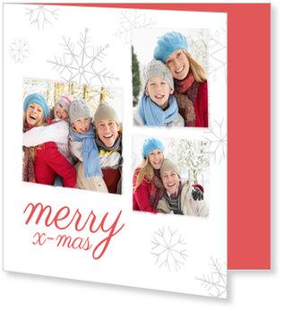 Aktuelle Weihnachtskarten, Snow in Grau
