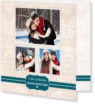 Aktuelle Weihnachtskarten, Ornamentmuster