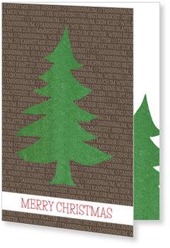 Aktuelle Weihnachtskarten, Tannenbaum auf Braun