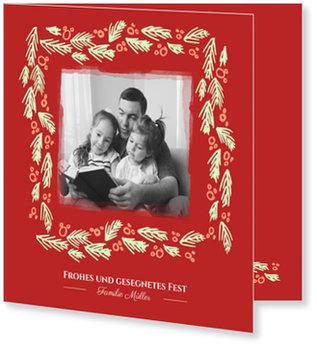 Aktuelle Weihnachtskarten, Tannengrün