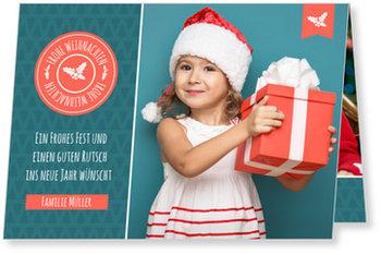 Aktuelle Weihnachtskarten, Tannenmuster