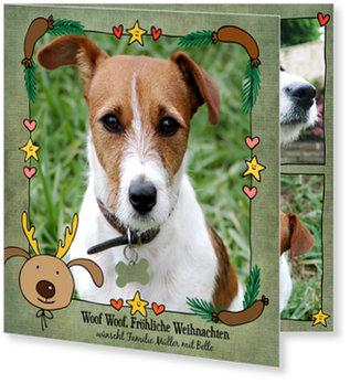 Aktuelle Weihnachtskarten, Tierische Weihnachten mit Hund