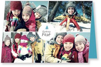 Aktuelle Weihnachtskarten, Weihnachtliches Bilderquartett
