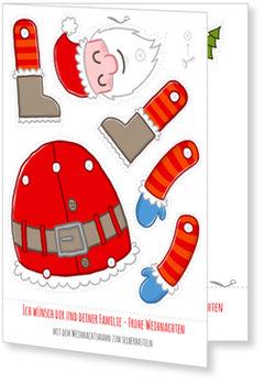 Aktuelle Weihnachtskarten, Weihnachtsmann zum basteln