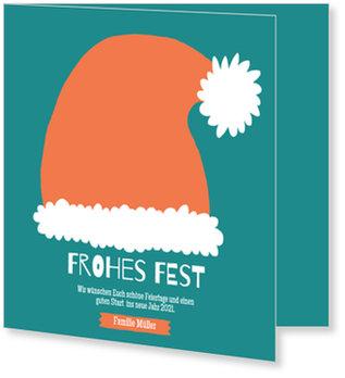 Aktuelle Weihnachtskarten, Weihnachtsmannmütze