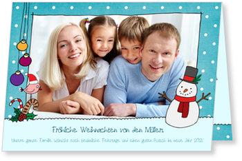 Aktuelle Weihnachtskarten, Winterschnee