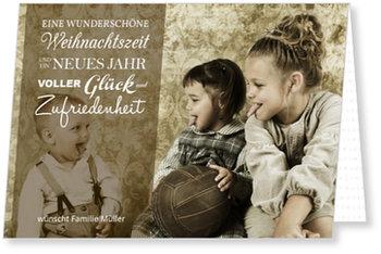 Aktuelle Weihnachtskarten, Wunsch in Braun