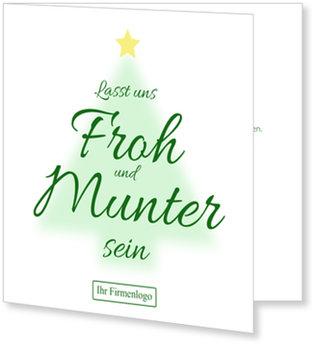 Einladung Weihnachtsfeier, Leuchtender Tannenbaum