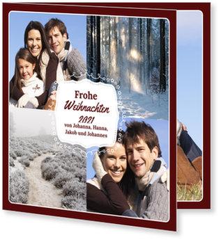 Aktuelle Weihnachtskarten, Weihnachtsschild in Rot