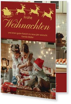 Aktuelle Weihnachtskarten, Weihnachtsschlitten