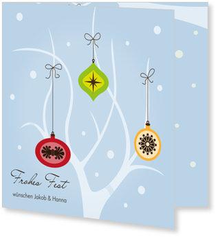 Aktuelle Weihnachtskarten, Weihnachtsspiel in Blau