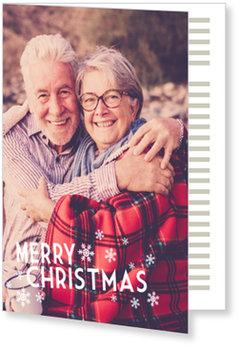 Aktuelle Weihnachtskarten, Weiße Schneeflocken