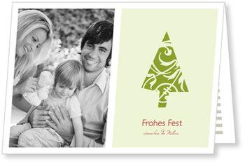 Aktuelle Weihnachtskarten, Xmas - Bäumchen - Hellgrün