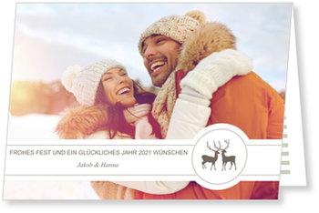 Aktuelle Weihnachtskarten, Zwei Hirsche