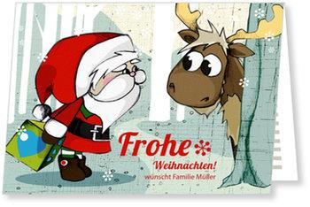 Aktuelle Weihnachtskarten, Weihnachtsbesuch im Walde