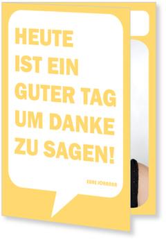 Danksagungskarten Konfirmation, Sprechblase in Gelb