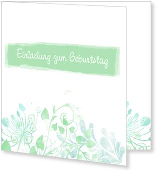 Einladungskarten Geburtstag, Aquarell