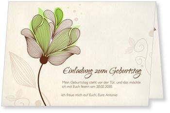 Einladungskarten 30. Geburtstag, Blütentraum