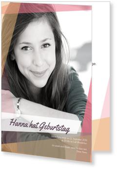 Einladungskarten Geburtstag, Collage