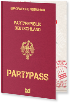 Einladungskarten 40. Geburtstag, Partypass