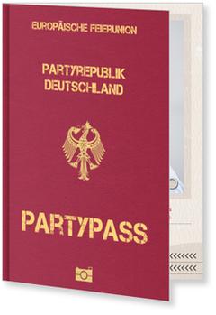 Einladungskarten 60. Geburtstag, Partypass