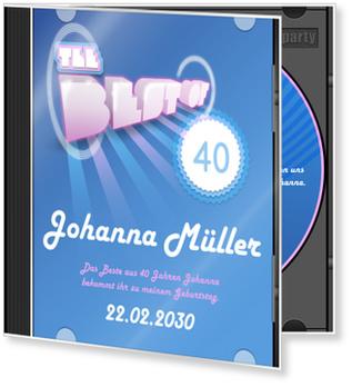 Einladungskarten 40. Geburtstag, CD-Cover Pop