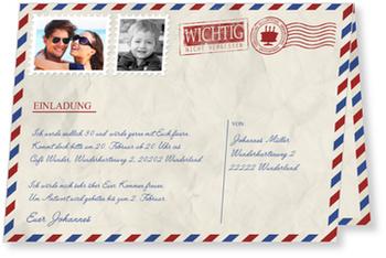 Einladungskarten 30. Geburtstag, Geburtstagsluftpost
