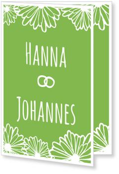 Einladungskarten Hochzeit, Blütenhochzeit in Grün