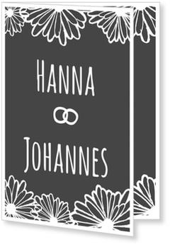 Einladungskarten Hochzeit, Blütenhochzeit
