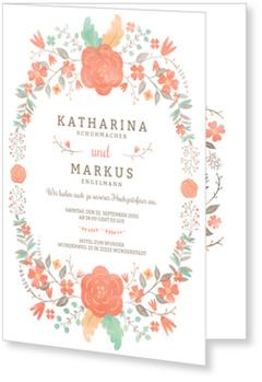 Einladungskarten Hochzeit, Blütenpracht