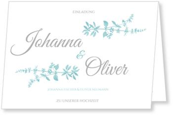 Einladungskarten Hochzeit, Botanisch