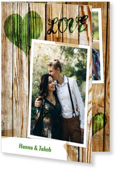 Einladungskarten Hochzeit, Landliebe in Grün