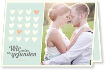 Einladungskarten Hochzeit, Wir haben uns gefunden