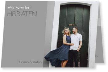 Einladungskarten Hochzeit, Farbspiel in Grau