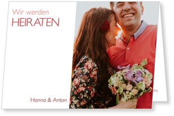 Einladungskarten Hochzeit, Farbspiel