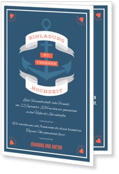 Einladungskarten Hochzeit, Hafen der Ehe