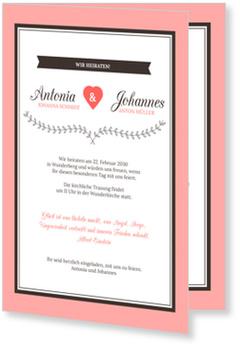 Einladungskarten Hochzeit, Hochzeitsherzchen