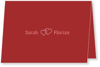 Einladungskarten Hochzeit, Liebe im Doppelpack in Rot