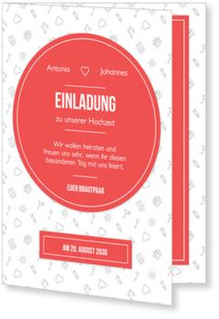 Einladungskarten Hochzeit, Modernes Hochzeitsmuster