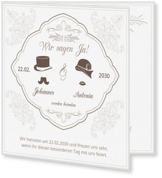 Einladungskarten Hochzeit, Nostalgie