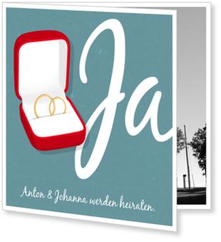 Einladungskarten Hochzeit, Ringkästchen