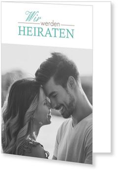 Einladungskarten Hochzeit, Romantische Schrift