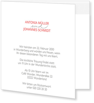Einladungskarten Hochzeit, Schick, einfach, elegant