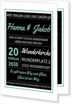 Einladungskarten Hochzeit, Typografie