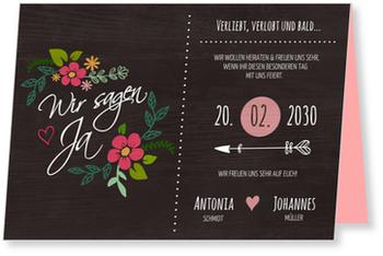 Einladungskarten Hochzeit, Verliebt